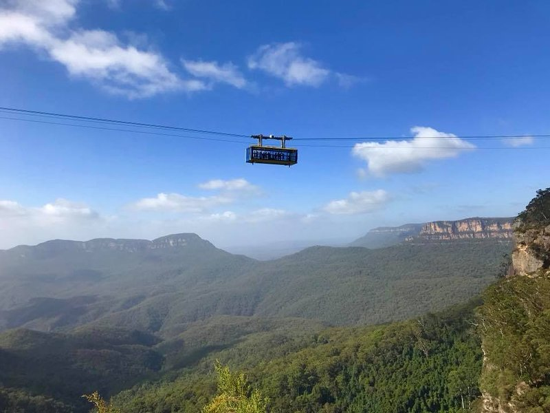 Short drive to Scenic World which is home of the Scenic Railway, Skyway, Cableway & Walkway.