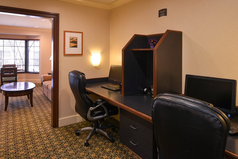 Get some work done in the business center.