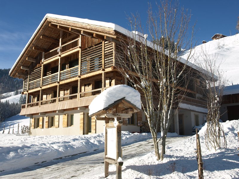 Child friendly luxury ski apartment in chalet (no.1), alquiler de vacaciones en Le Grand-Bornand
