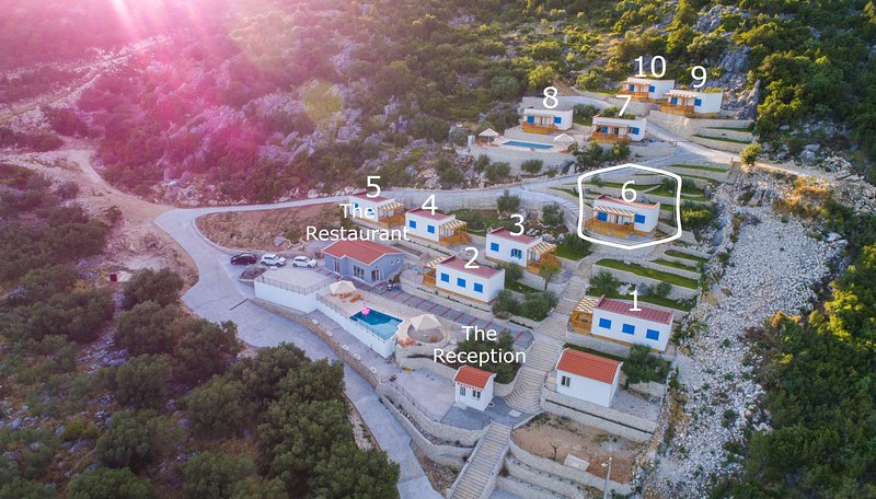 Camping Homes Grot-Two Bedroom Home with Sea view H6, holiday rental in Bacina
