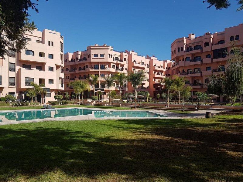Appartement calme, dans une residence paradise Prix des nuitees, restes stables, alquiler de vacaciones en Ait Azzi