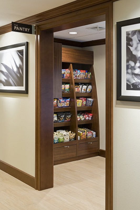 Purchase a snack at the on-site pantry.