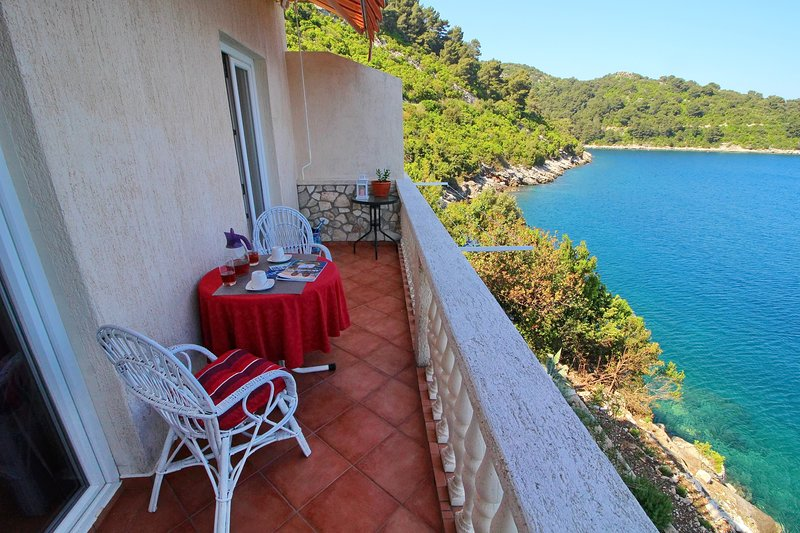 Apartments Filipović - One-Bedroom Apartment with Balcony and Sea View (A1), holiday rental in Sobra