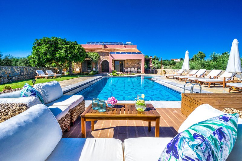 Nafsika Luxury Villa, Litsarda Chania, location de vacances à Vamos