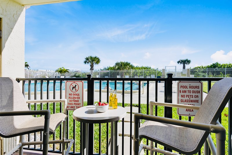Walk right out to the pool and beach!