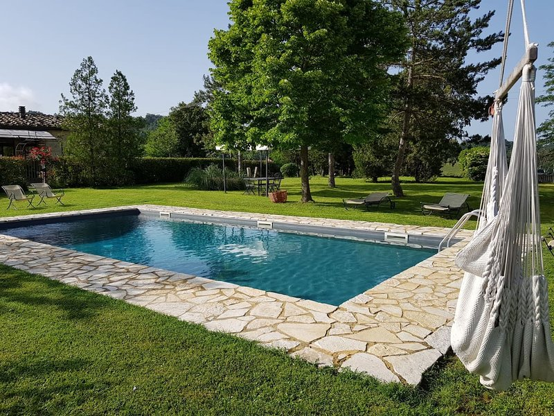 Nice house with shared pool, vacation rental in Trequanda