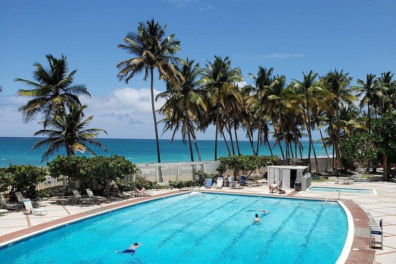 Ocean Breeze POOLSIDE Studio Cabana apartment BEACH ACCESS, vacation rental in San Juan