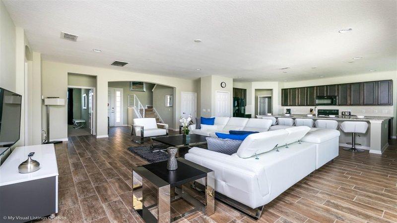 Living - 8 Bedroom Villa Disney Vacation Rentals by Sweet Home Vacation
