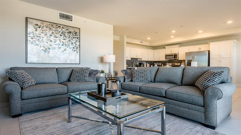 Living Area- 2 Bedroom Apartment  Disney Vacation Rentals by Sweet Home Vacation