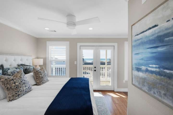 There is no shortage of views rom the master suite!