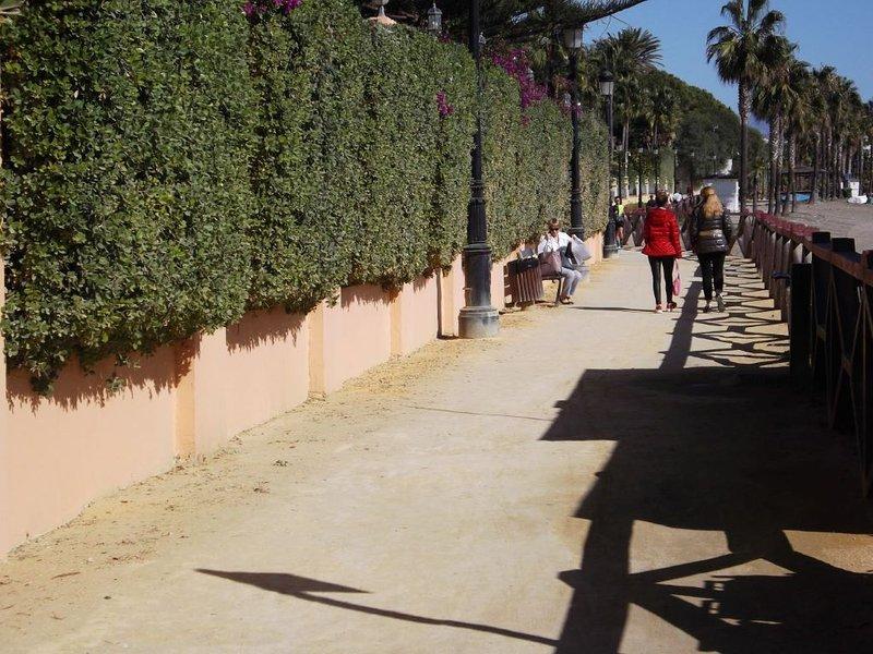 The walk along the Beach to Puerto Banus.