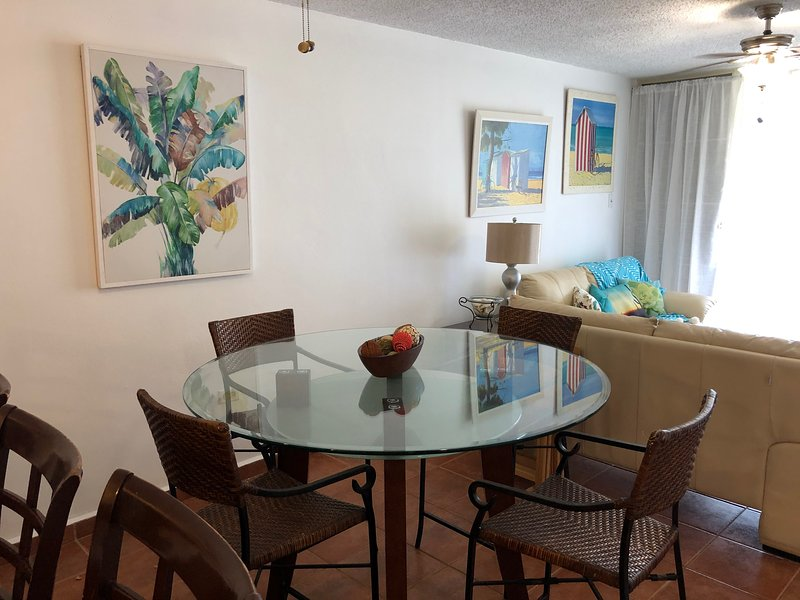 Haciendas del Club garden apartment steps from the pool and beach, WiFi, A/C, vacation rental in Cabo Rojo