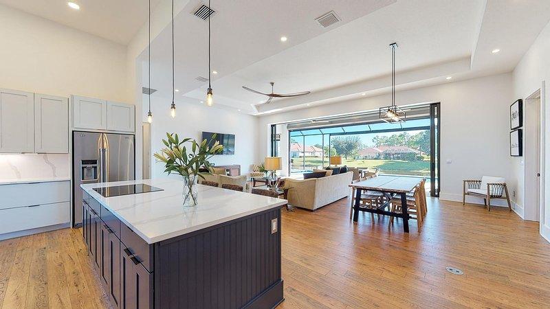 Ultra modern kitchen and lounge
