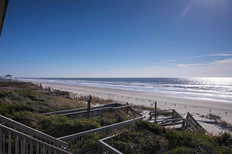 Directamente en la playa