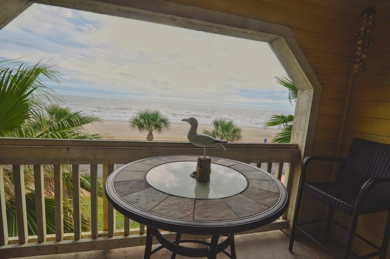 beach front condo with ocean view from balcony!