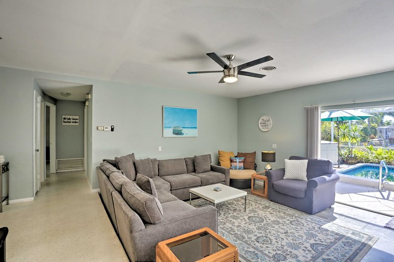 There are plenty of places to kick back and relax in the living room.