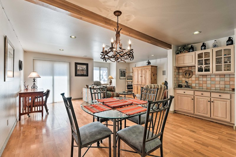 Bring along the entire clan! This Angel Fire home sleeps 8 guests comfortably.