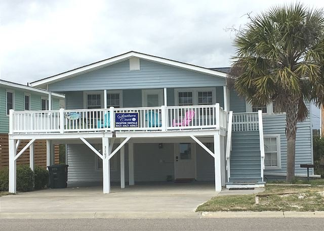 Private Beach House ~ Cherry Grove, Pool & Hot tub, steps to beach, holiday rental in North Myrtle Beach
