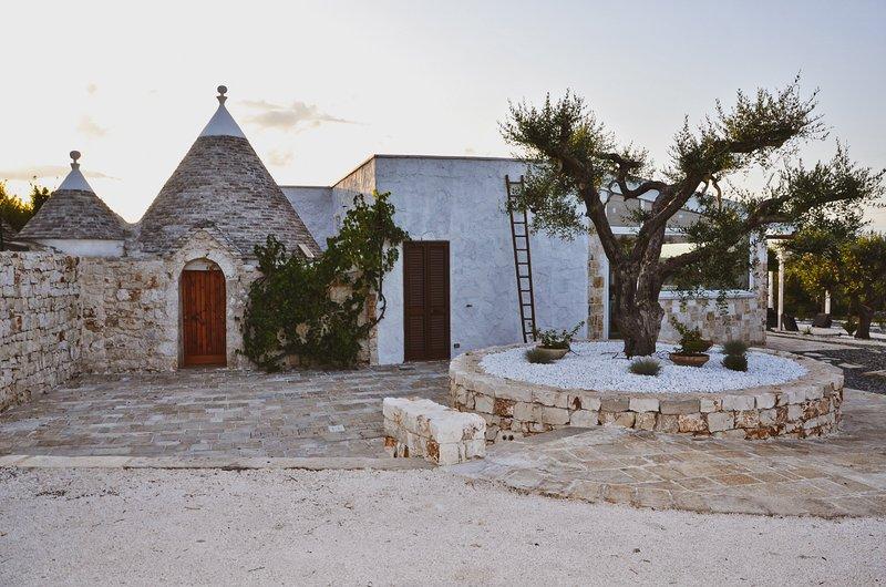 TRULLI BARBARO 'villa luxury con piscina privata', holiday rental in Castellana Grotte