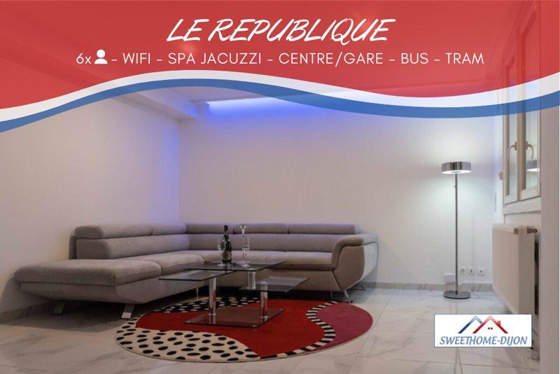 ♔❤️SWEETHOME DIJON - LE REPUBLIQUE❤️♔ ⭐⭐⭐⭐⭐, holiday rental in Saint-Apollinaire