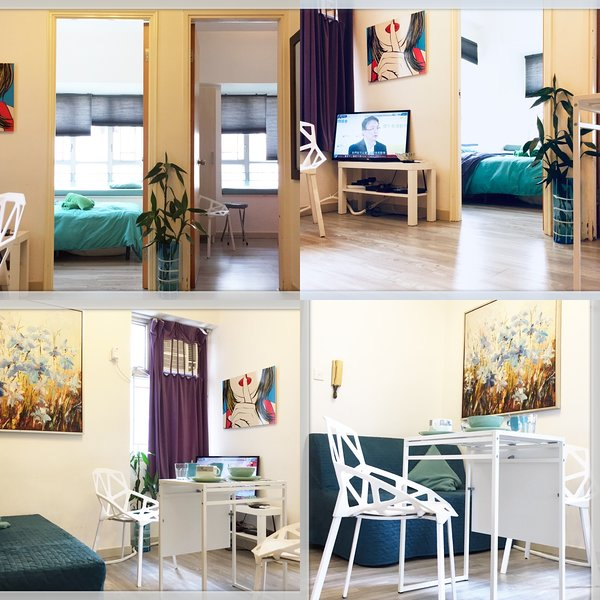 Mong Kok MTR/Ladies Market/High Floor/2Bdr/Cozy/女人街, aluguéis de temporada em Shenzhen
