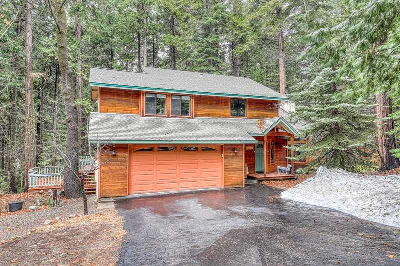 Contemporary cabin w/ forest views near skiing - walking distance to Snowshoe!, location de vacances à Camp Connell