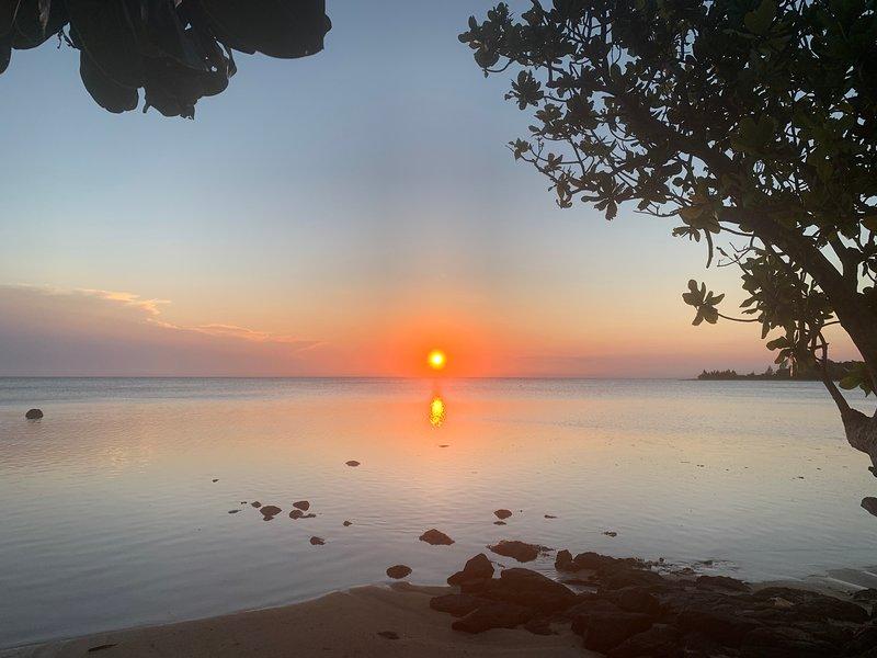 Joli case au bord du lagon à l'île aux Nattes. Plage privée. 45 M2. 3/5 pax., location de vacances à Ambodifotatra