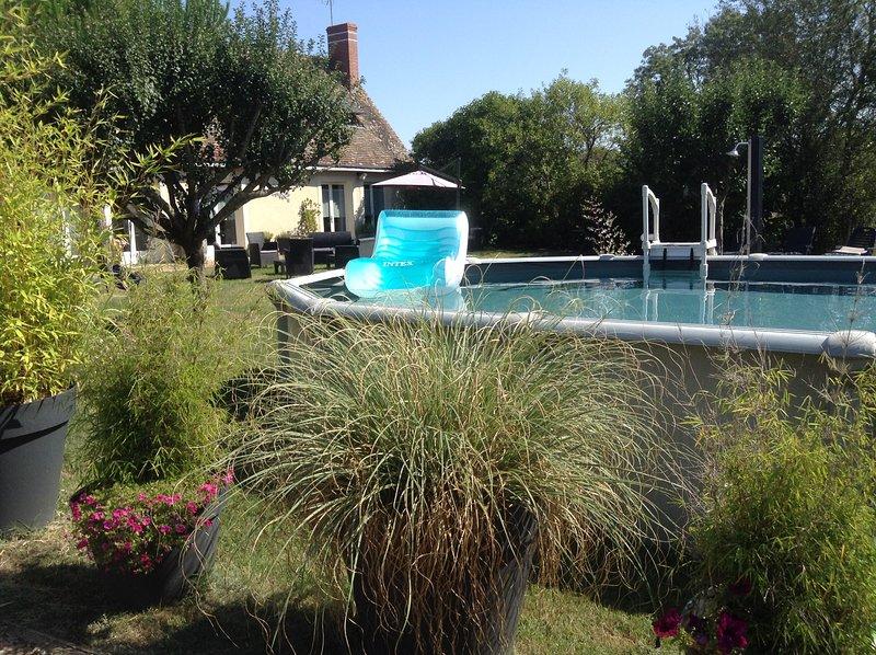 Gite climatisé avec piscine  La Motte ' Ferme royale' 6 personnes, holiday rental in Mazieres-de-Touraine