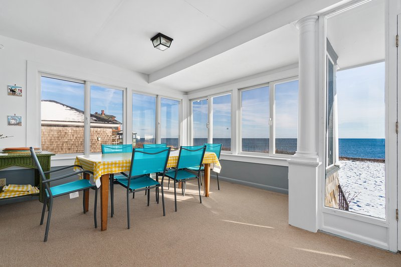 Sweeping, dog-friendly, waterfront home w/ a sun room, ocean views, & fireplaces, holiday rental in Cape Ann
