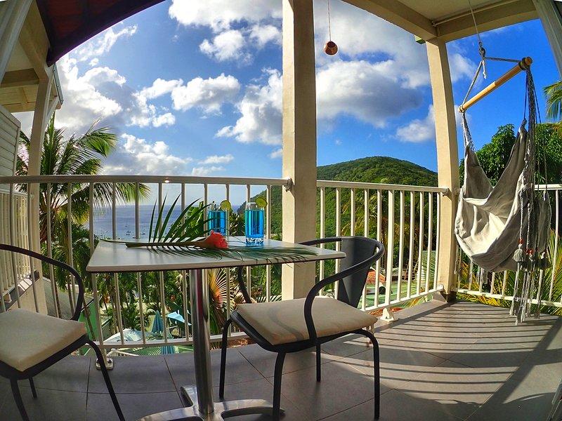 Studio MALACCA - vue mer et piscine - O Coeur de Deshaies, Ferienwohnung in Deshaies