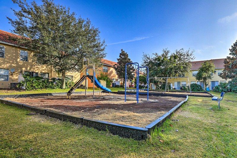 A los niños les encantará el parque infantil.