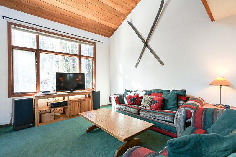 Soggiorno, interni, camera, mobili, divano