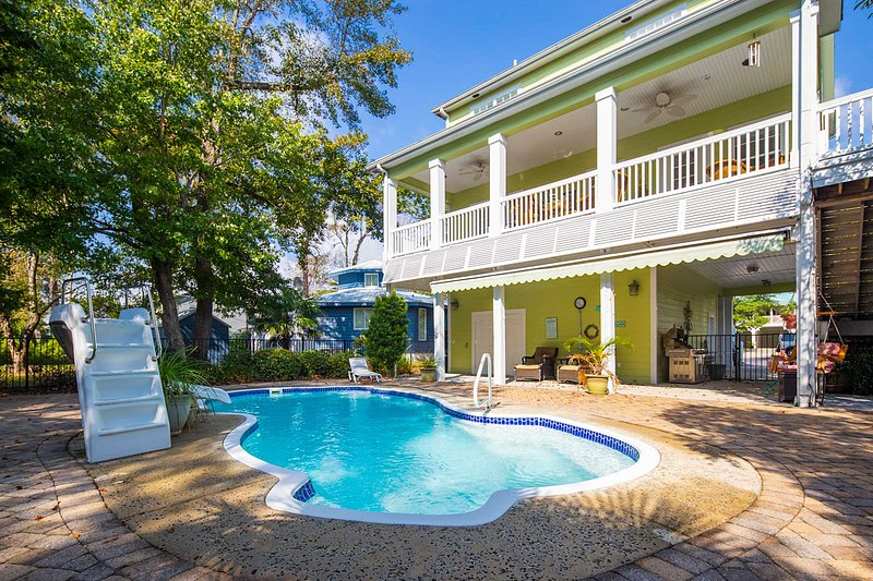 NEW! 3-Story Home w/Saltwater Pool - Walk to Beach UPDATED ...