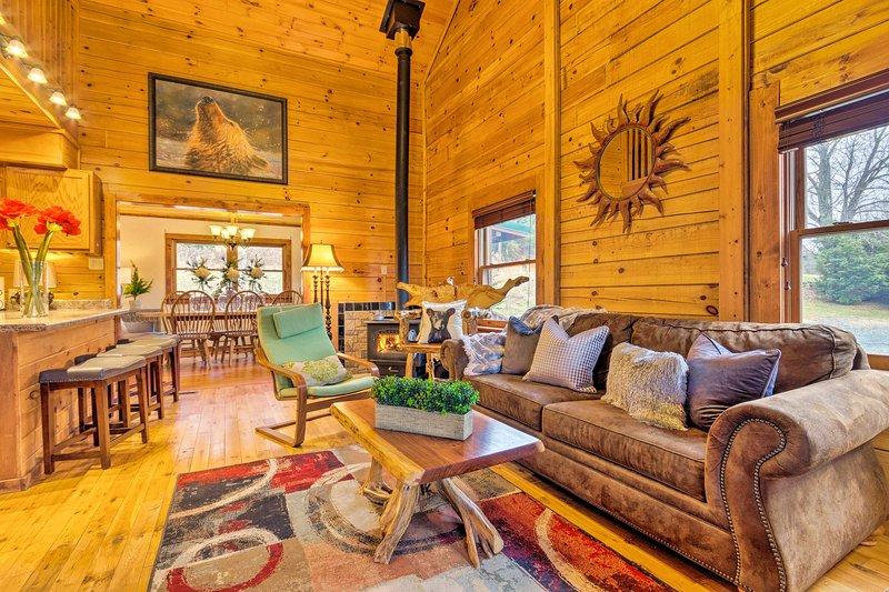 Goditi un rifugio idilliaco in questa cabina per le vacanze!