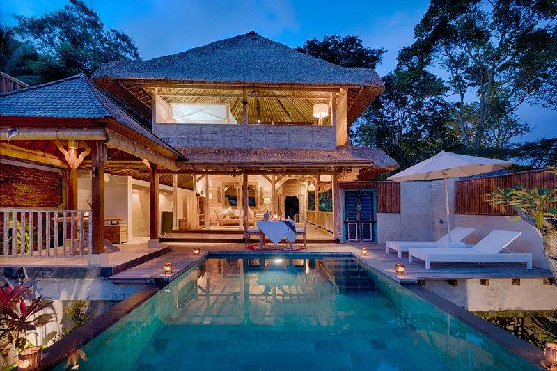 Stunning Tropical Hideaway with an Infinity Pool in Ubud, location de vacances à Kedewatan