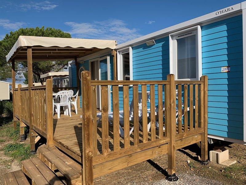 VACANCES 2020 Mobil Home, tout confort, Climatisé 4 Pièces 6/8 Pers, holiday rental in Saint-Nazaire