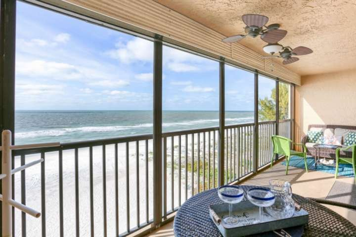 Stunning Beachfront Views from the Private, Covered Balcony