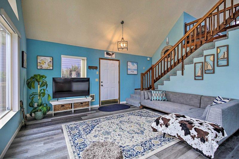 La casa vacanza si trova a solo mezzo miglio dal litorale di Rockaway Beach.