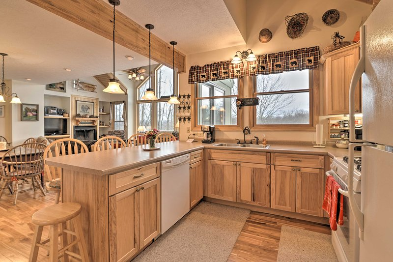 This vacation rental features all of the comforts of home like a full kitchen!
