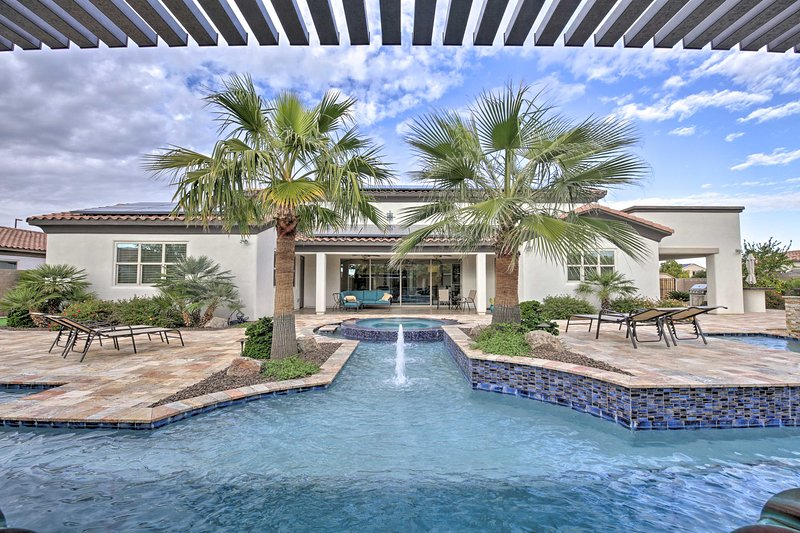 Relax in style in this beautiful backyard.