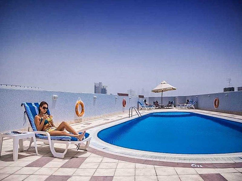 Acqua, piscina, hotel, edificio, piscina