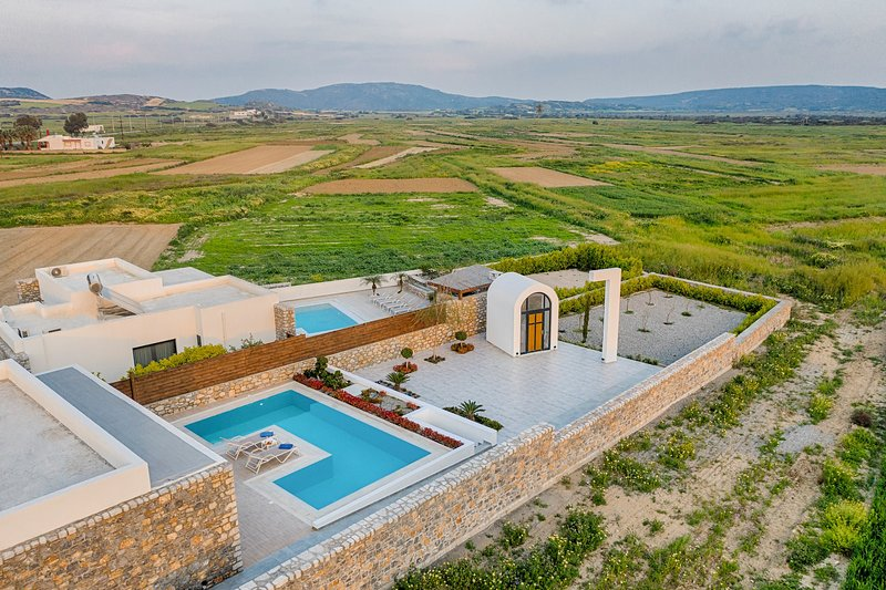 Aerial photo of Villa Panormitis - view to the countryside