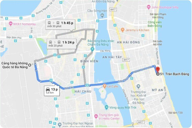 From the airport to WINNIE CONDO is easy with about 5.8 km, 13 minutes by car