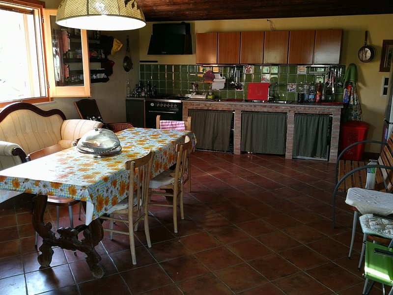 Nice apartment with terrace, holiday rental in Villalba