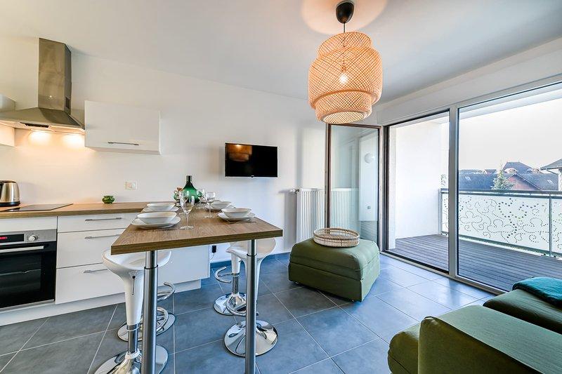 � Stella Verde 3* - T2 neuf avec balcon & garage, vakantiewoning in Annecy