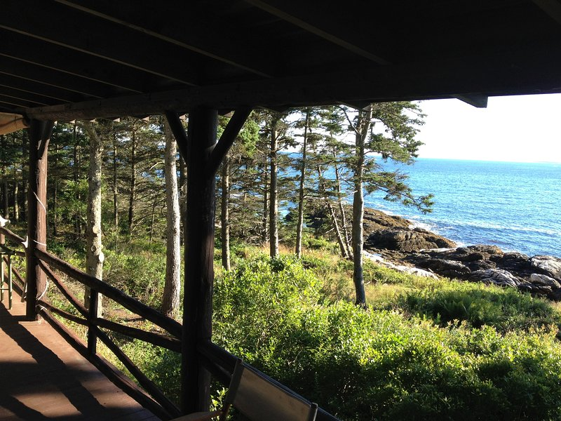 Enjoy a spectacular view from the covered porch