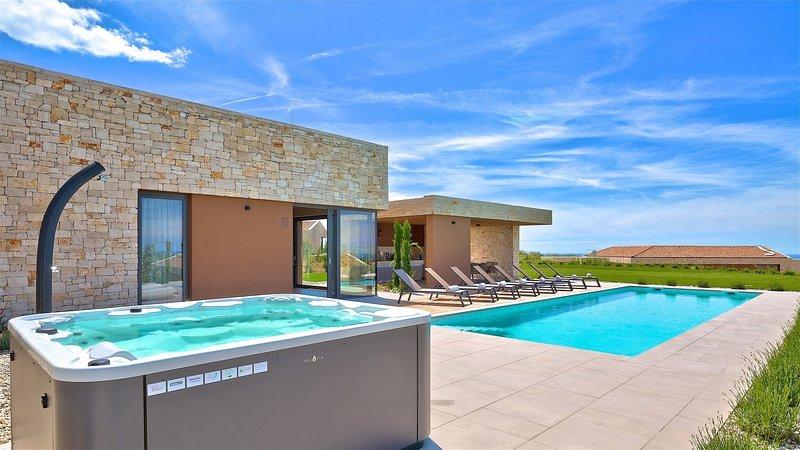 Modern Villa Vigneto, in Istria, with a Pool, alquiler de vacaciones en Brtonigla