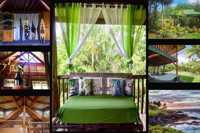 Casa by the Sea! 5 GUESTS LOCATED IN HAWAIIAN PARADISE PARK 5 MIN WALK TO OCEAN!, location de vacances à Hilo