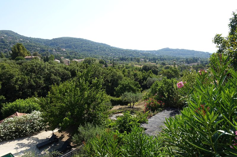 View from upper terrace of countryside