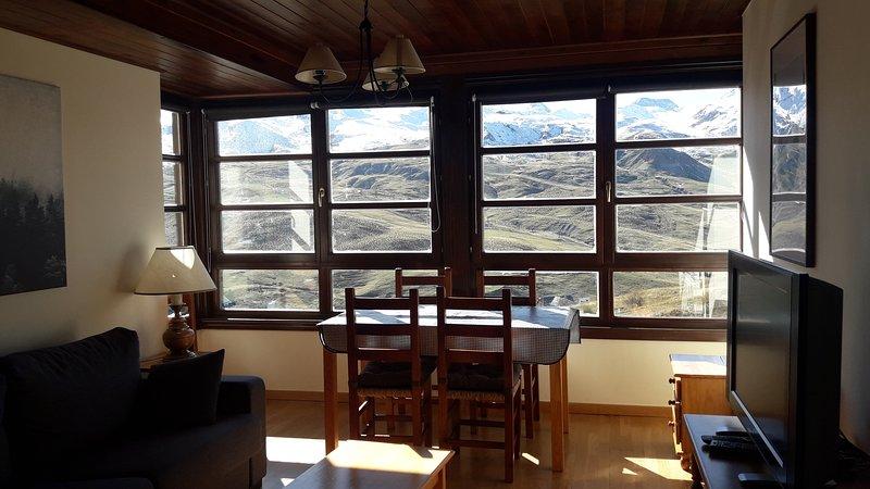 Apartamento 1 dormitorio para 5 personas, moderno y excelentes vistas, alquiler vacacional en Formigal